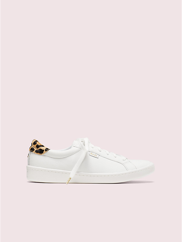 keds x kate spade new york ace leather & leopard sneakers, , rr_large