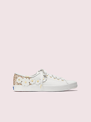 keds x kate spade new york kickstart glitter appliqués sneakers by kate spade new york non-hover view
