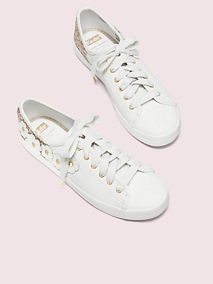 keds x kate spade new york kickstart glitter appliqués sneakers by kate spade new york hover view