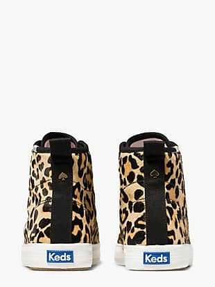 keds x kate spade new york kickstart hi leopard calf hair sneakers by kate spade new york hover view