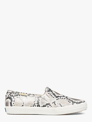 keds x kate spade new york double decker snake-embossed sneakers by kate spade new york non-hover view