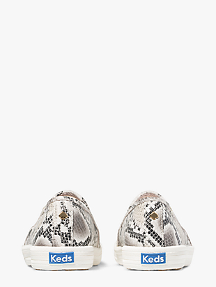 keds x kate spade new york double decker snake-embossed sneakers by kate spade new york hover view