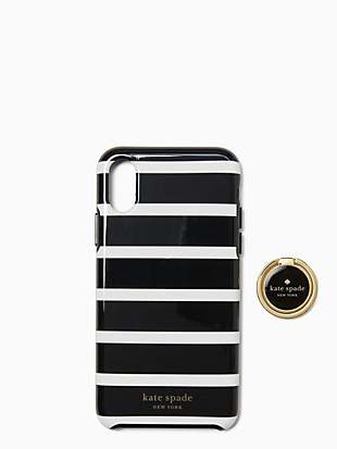 stability ring and stripe resin iphone xs case by kate spade new york non-hover view