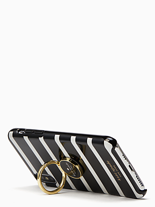 stability ring and stripe resin iphone xs case by kate spade new york hover view