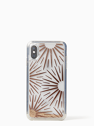 iphone cases liquid glitter resin iphone xr case by kate spade new york non-hover view
