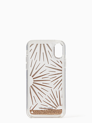 iphone cases liquid glitter resin iphone xr case by kate spade new york hover view
