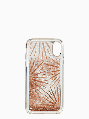 iphone cases liquid glitter resin iphone xs case by kate spade new york hover view