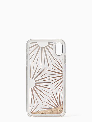 iphone cases liquid glitter resin iphone xs max case by kate spade new york hover view
