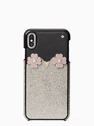 iphone cases penguin applique iphone xs max case by kate spade new york non-hover view