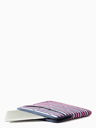 jae lip print laptop sleeve by kate spade new york hover view