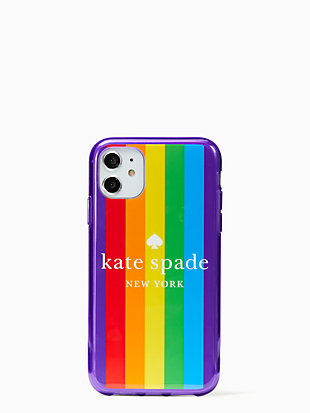 rainbow logo iphone 11 case by kate spade new york non-hover view