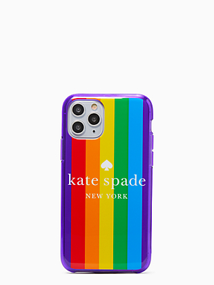 rainbow logo iphone 11 pro case by kate spade new york non-hover view