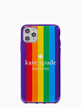 rainbow logo iphone 11 pro max case by kate spade new york non-hover view