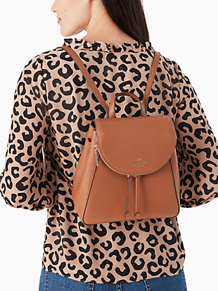 leila medium flap backpack by kate spade new york hover view