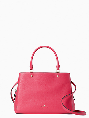 leila medium triple compartment satchel by kate spade new york non-hover view