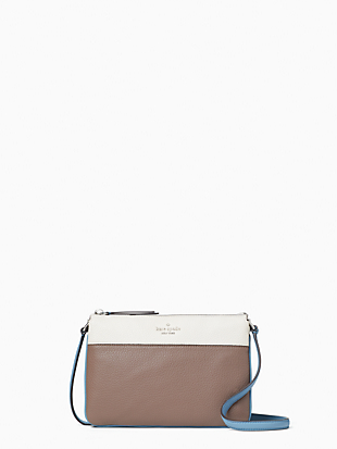 케이트 스페이드 Kate Spade jackson triple gusset crossbody,BALTIC SEA MULTI