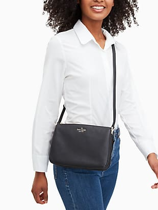 leila triple gusset crossbody by kate spade new york hover view