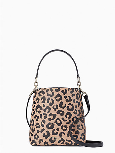 darcy graphic leopard small bucket bag, , rr_productgrid
