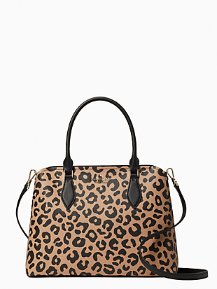 darcy graphic leopard large satchel by kate spade new york non-hover view