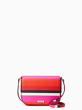 laurel way bonita stripe large carsen, peony pink, medium