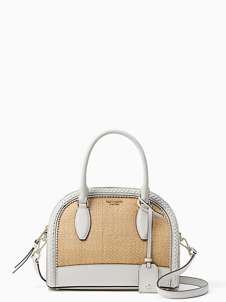 reiley straw medium dome satchel by kate spade new york