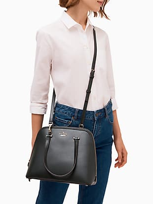 patterson drive medium dome satchel by kate spade new york hover view
