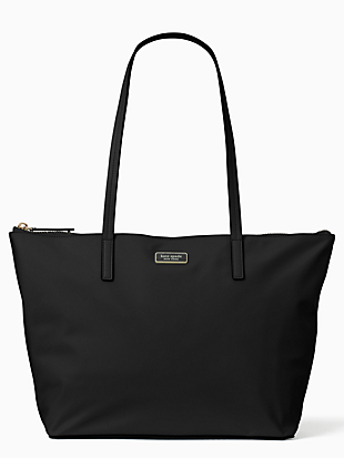 hayden sailing stripe top zip tote by kate spade new york non-hover view