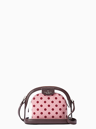 sylvia see-through lia dot dome crossbody by kate spade new york non-hover view