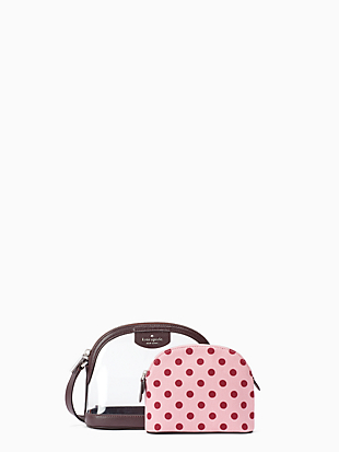 sylvia see-through lia dot dome crossbody by kate spade new york hover view