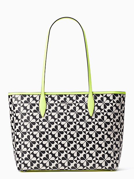 hollie spade clover geo neon trim large tote by kate spade new york