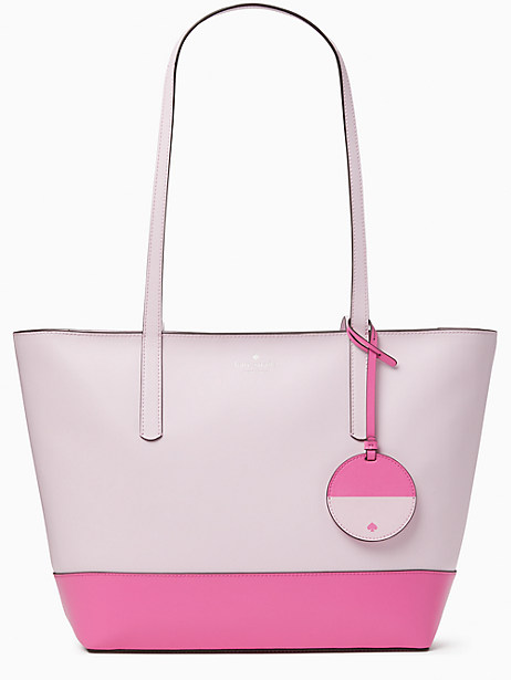 briel large tote, serendipity pink multi, large by kate spade new york