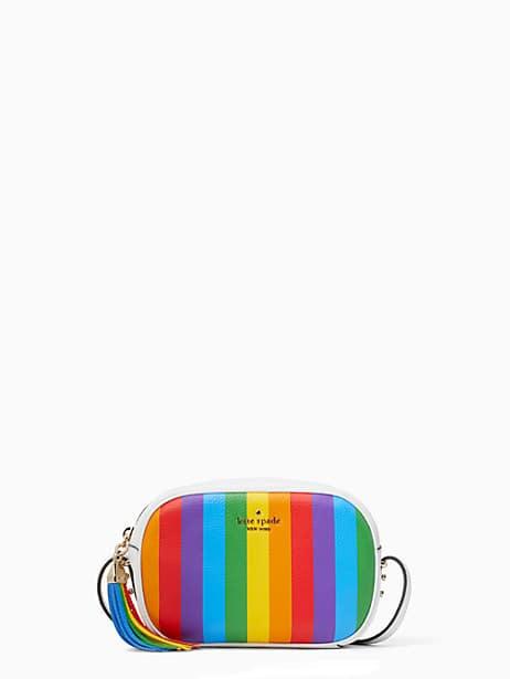 kourtney rainbow stripe camera bag by kate spade new york