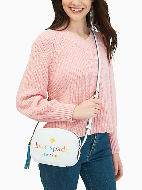 Kate Spade Kourtney Rainbow Logo Camera Bag