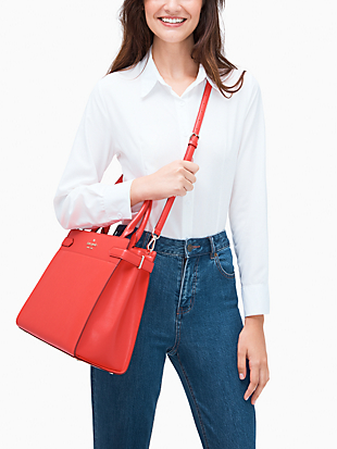 staci colorblock large satchel by kate spade new york hover view