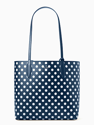 enchanted forest dot large reversible tote by kate spade new york non-hover view