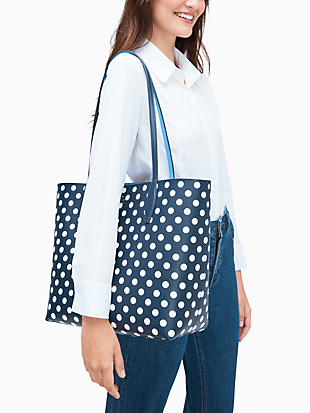 enchanted forest dot large reversible tote by kate spade new york hover view