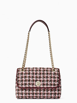 Natalia Solid Tweed Medium Flap Shoulder Bag