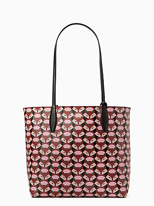 out of the woods geofox large reversible tote by kate spade new york non-hover view