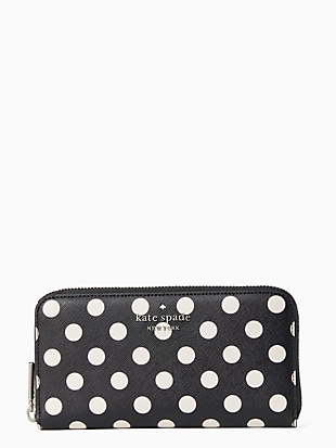 케이트 스페이드 Kate Spade staci picture dot large continental wallet,BLACK MULTI
