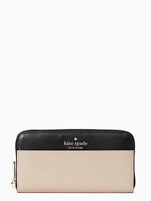 케이트 스페이드 Kate Spade staci colorblock large continental wallet,WARM BEIGE MULTI