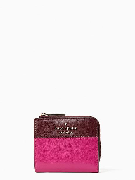 케이트 스페이드 Kate Spade staci colorblock small l-zip bifold wallet