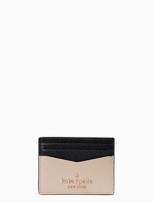staci colorblock small slim card holder by kate spade new york non-hover view