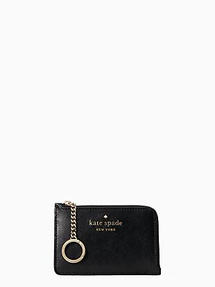staci medium l-zip card holder by kate spade new york non-hover view
