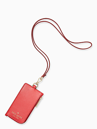 staci card case lanyard by kate spade new york non-hover view