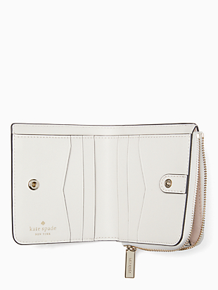 staci small l-zip bifold wallet by kate spade new york hover view