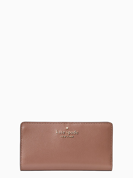Kate Spade Staci Colorblock Large Slim Bifold Wallet