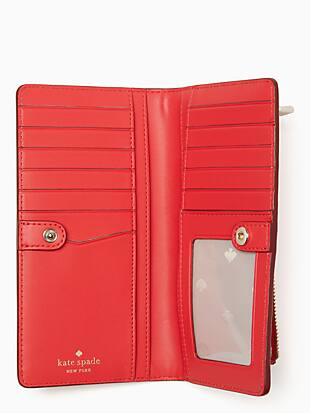 staci large slim bifold wallet by kate spade new york hover view