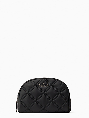 jae quilted medium dome cosmetic by kate spade new york non-hover view