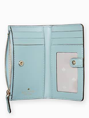leighton small slim bifold wallet by kate spade new york hover view