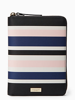 laurel way printed zip around personal agenda, cruise stripe, medium